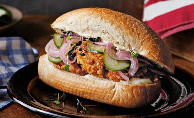 Resep Chicken Sandwich ala Subway