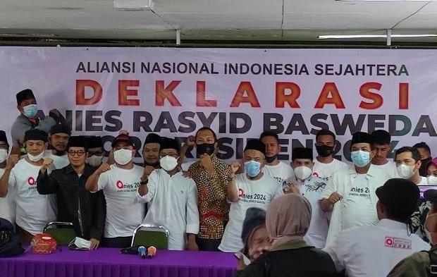 Relawan ANIS Deklarasi Dukung Anies Baswedan Maju Pilpres 2024