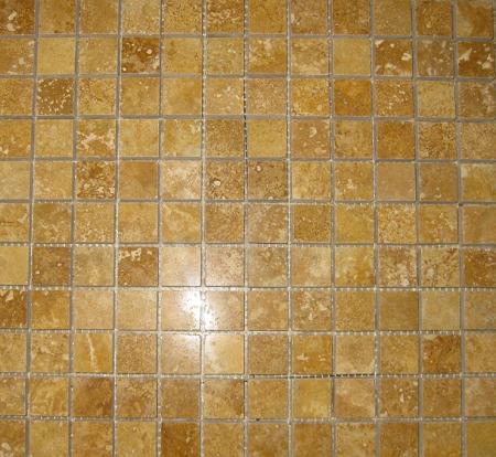 sienna gold travertine mosaic polished 1646