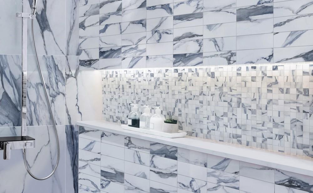 ocean blue porcelain tile