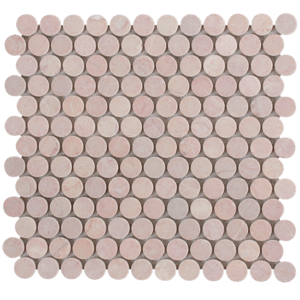 rosado tumbled penny round mosaic