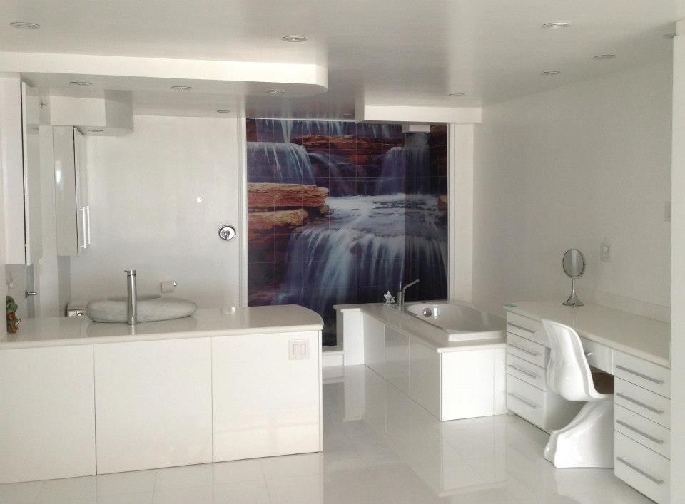 waterfall shower tile murals tile by