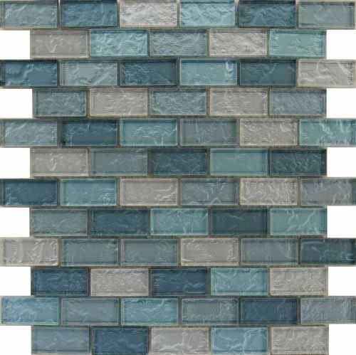 30x30 chord aqua brick mosaic