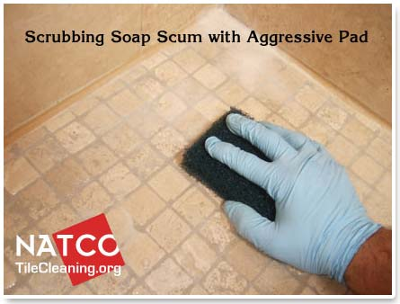 to clean and seal a travertine tile shower