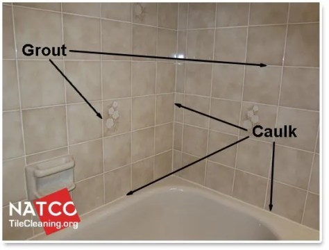 Where Should Grout and Caulk be Installed in a Tile Shower shower with grout and caulk in it