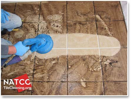 steam clean tile and grout