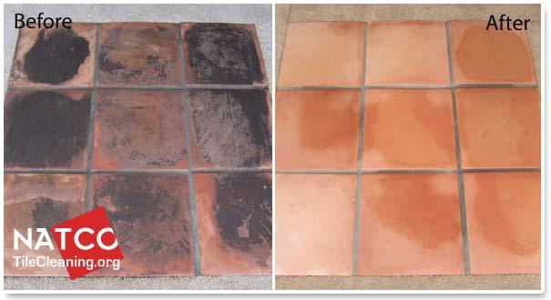 how to strip the sealer off saltillo tiles