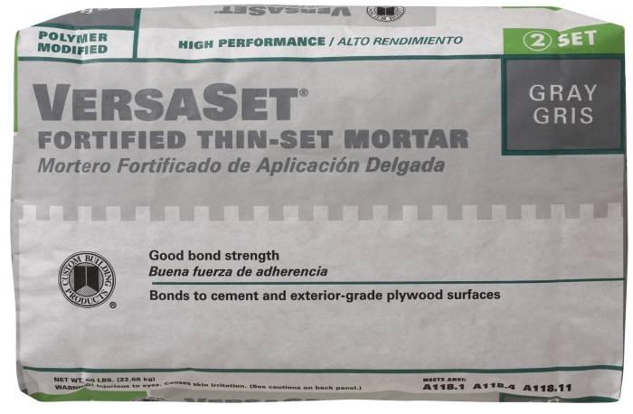 Versaset Thin-Set Gray