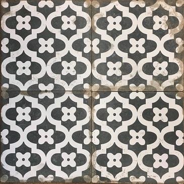 ems 13 rhapsody floral black white pattern tile