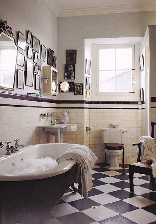 25 Classic Black And White Bathroom Tile Ideas And Pictures 2019