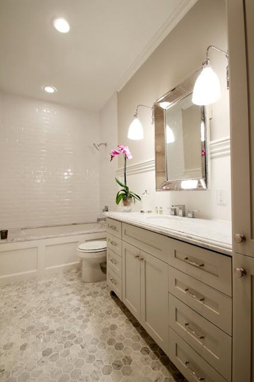 34 White Hexagon Bathroom Floor Tile Ideas And Pictures 2019