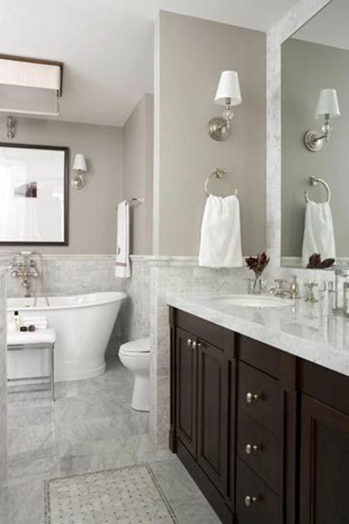 white marble bathroom floors