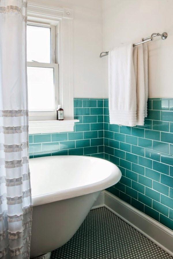 41 aqua blue bathroom tile ideas and