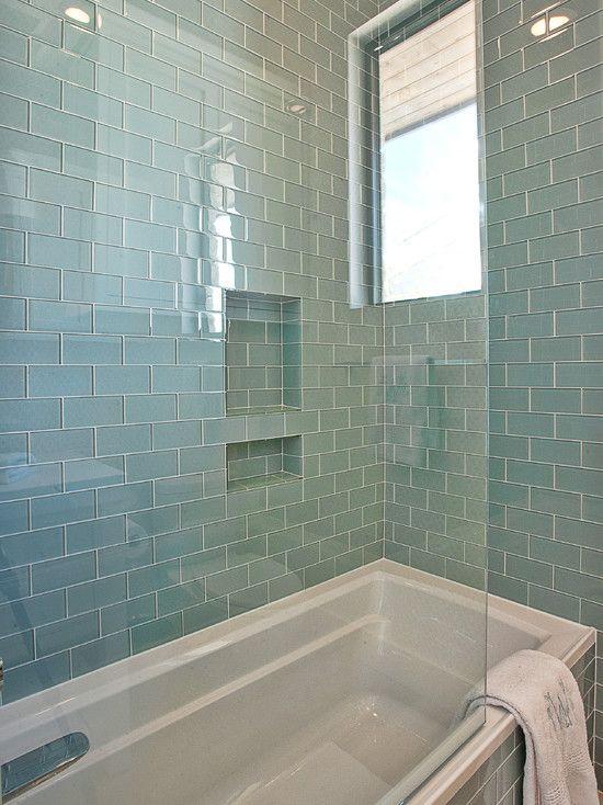 40 blue glass bathroom tile ideas and