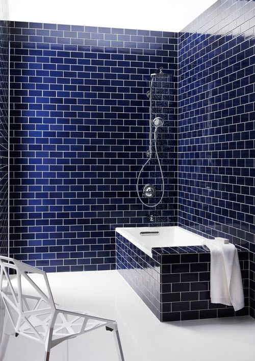 35 Cobalt Blue Bathroom Tile Ideas And Pictures