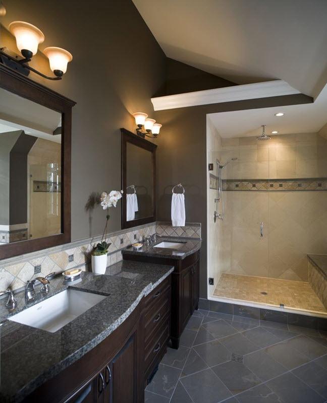 39 Dark Grey Bathroom Floor Tiles Ideas And Pictures 2019