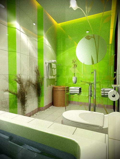 35 Lime Green Bathroom Wall Tiles Ideas And Pictures 2019