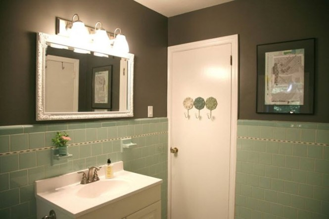 what paint colors go with gray tile  bathroom furniture ideas, Home decor