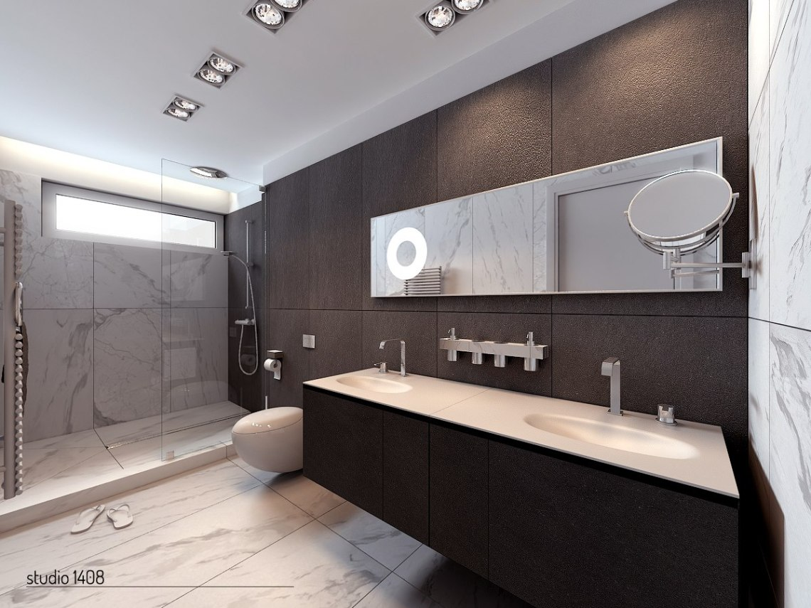 Image Result For Black And White Bathroom Tiles In A Small Bathroom