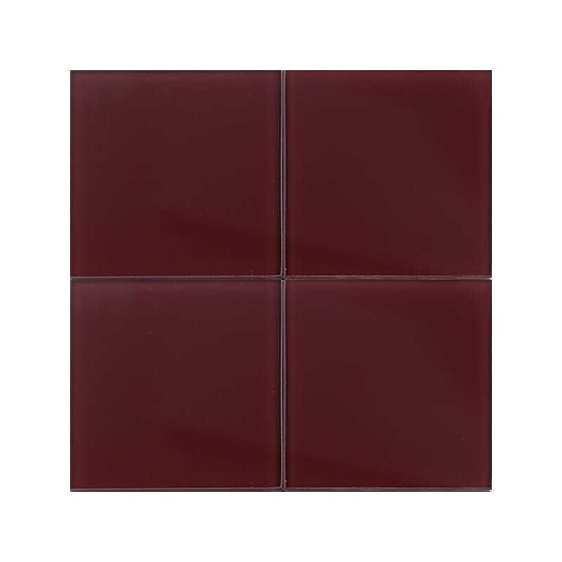 bordeaux 5 glossy 4x4 glass tiles