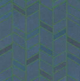 blue mosaico chevron wall collection