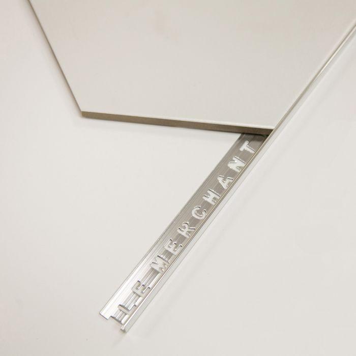 tile trim aluminium square edge pol 12mm 2 4mtr long