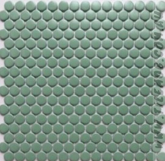 olive matt penny round 19mm diameter
