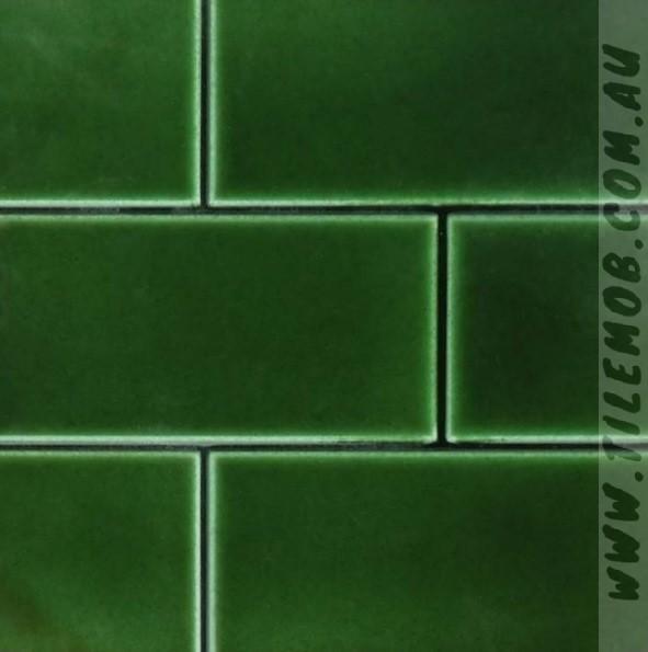 victorian green gloss subway 75x150mm