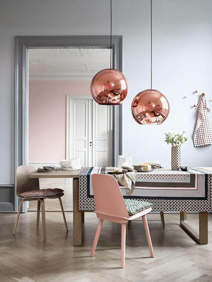 copper and blush colour scheme
