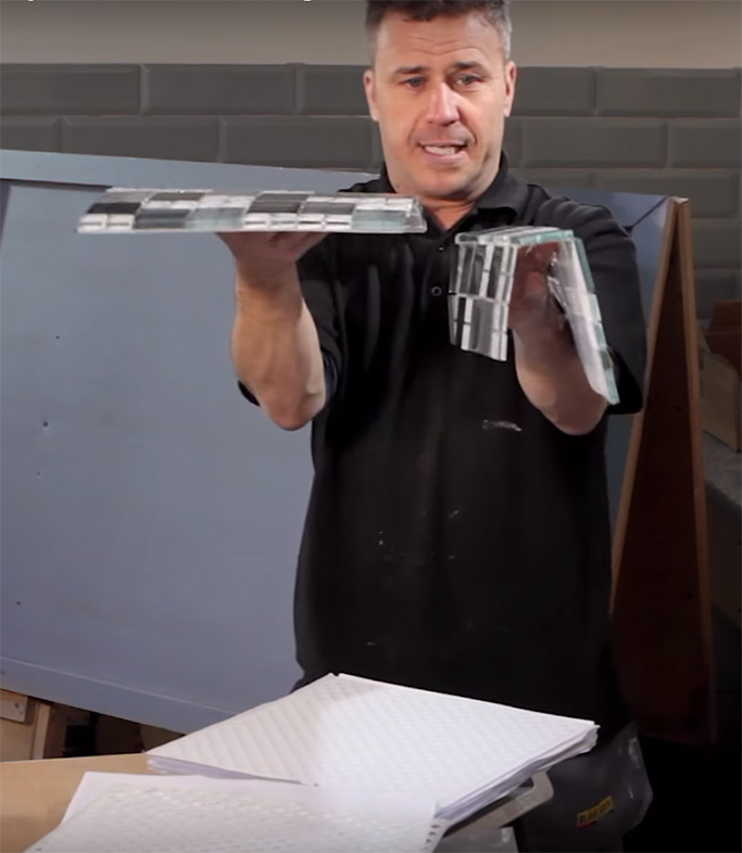How to Cut Lay and Install Mosaic Tiles using Backer Sheets 2