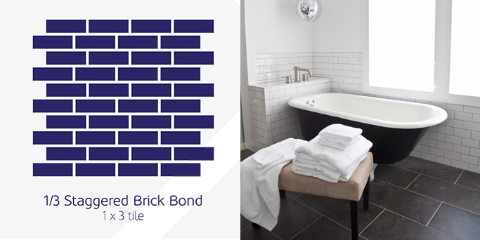 Staggered Brick Bond tile pattern example
