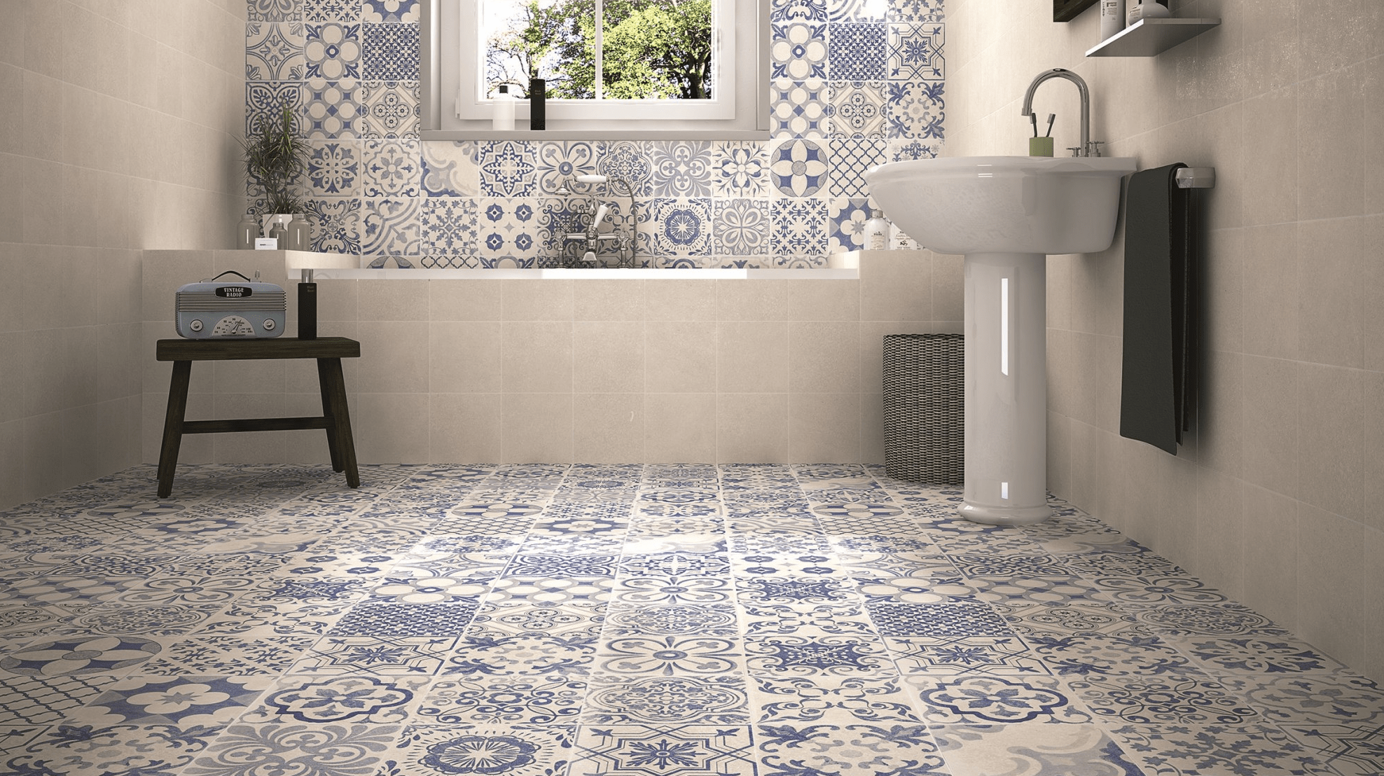 Geometric patterned floor tiles archives tile mountain patterned floor tiles to turn heads dailygadgetfo Image collections