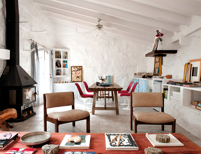 Spanish Open Plan Living and Dining Area