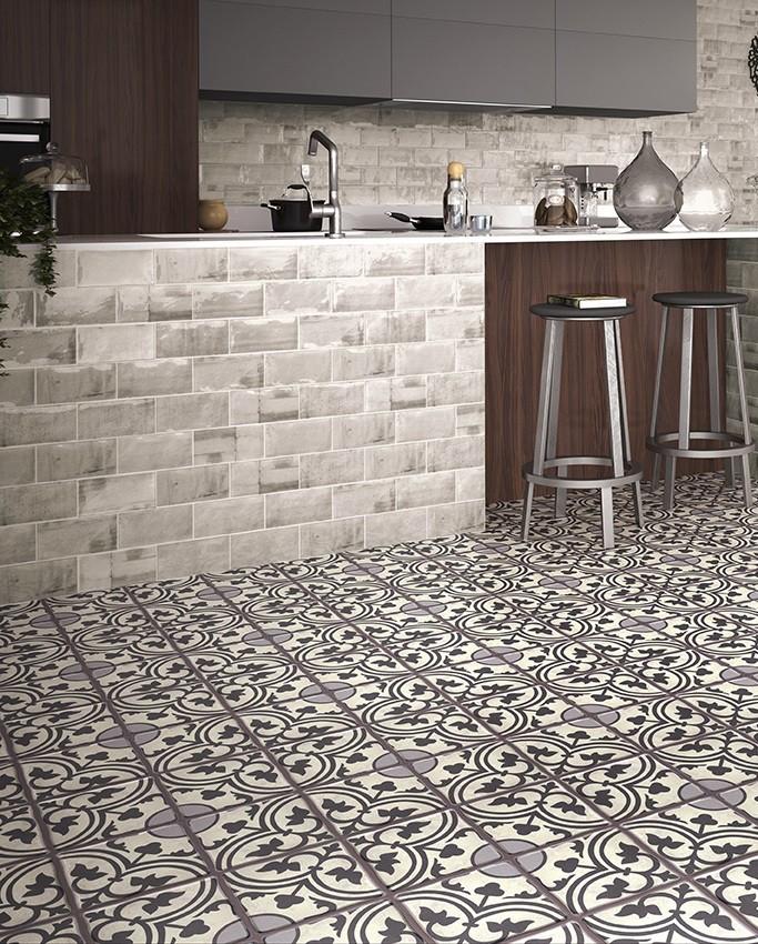 Duomo Centro Black Floor Tiles from Tile Mountain