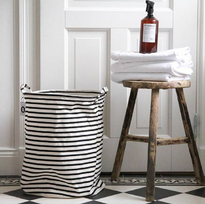 Stripes Laundry Basket from Posh Totty Design Interiors