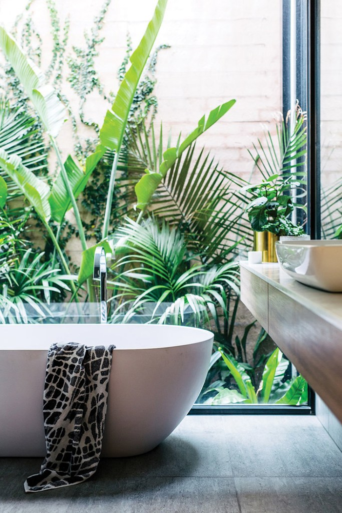 Adore Home Magazine Home of Sophie Bell Greenery Bathroom