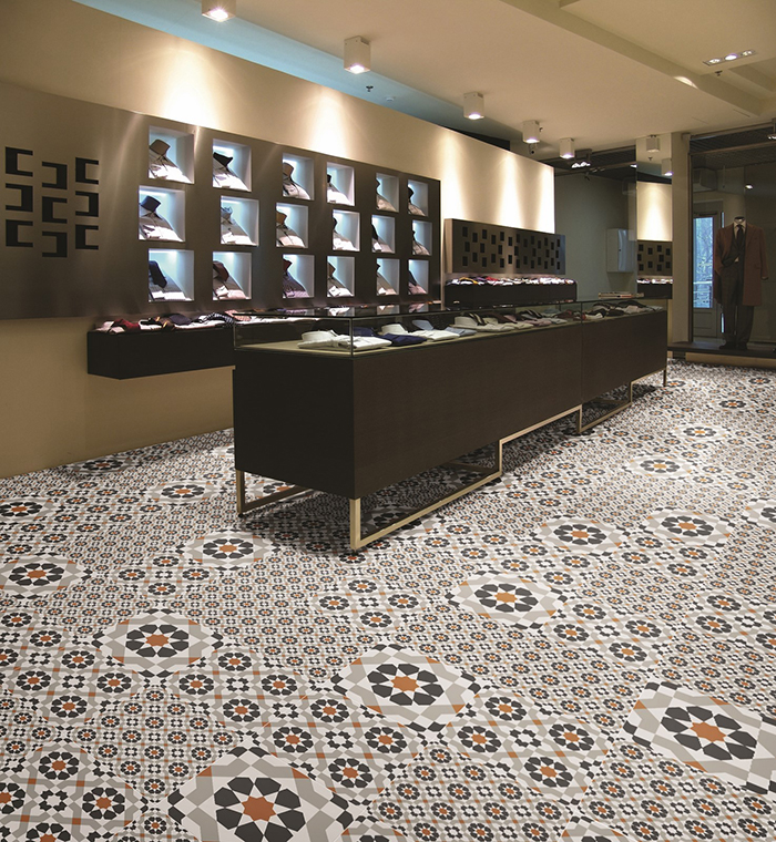 Marrakech Catarina Copper Pattern Floor Tiles from Tile Mountain