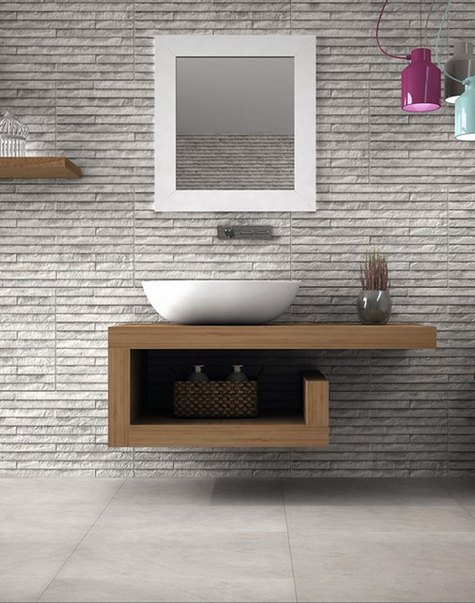 Yosemite Grey Split Face Wall Tiles from Tile Mountain