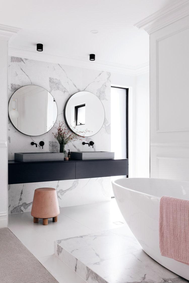 Marble Wall in Bathroom