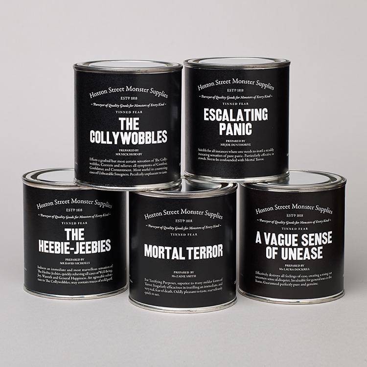 Hoxton Street Monster Supplies Range of Tinned Fear