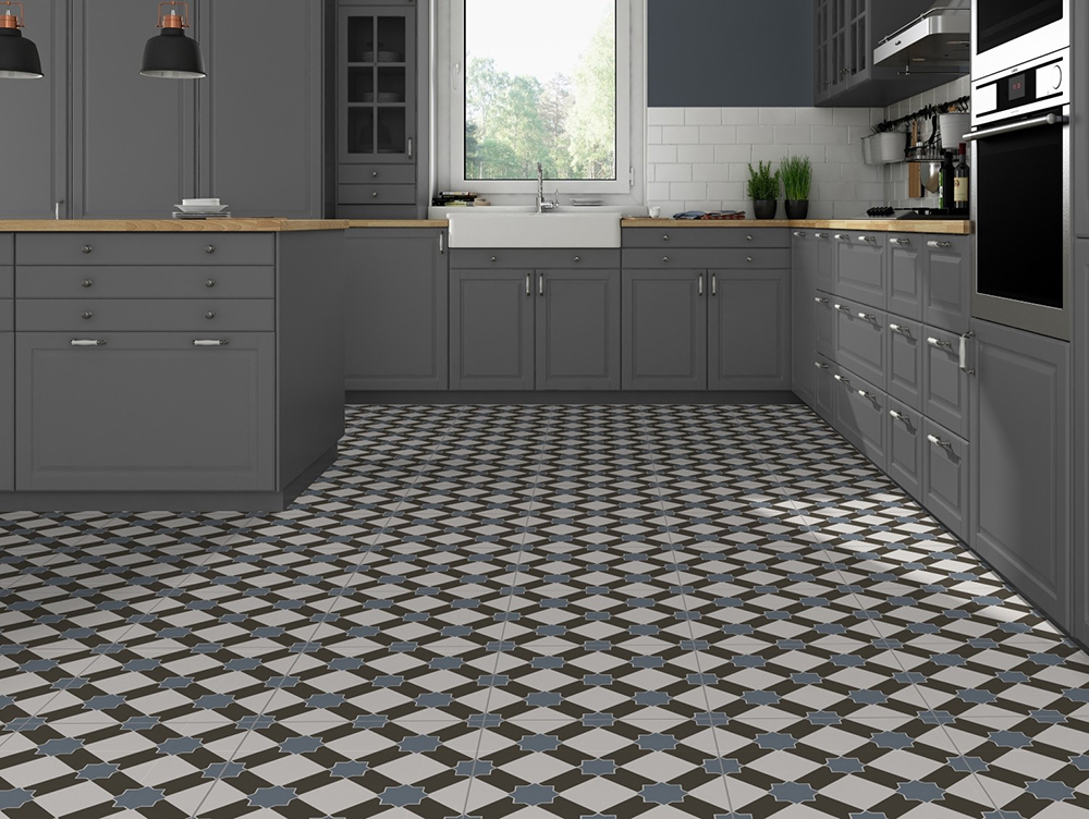 Exeter Pattern Porcelain Floor Tile from Tile Mountain