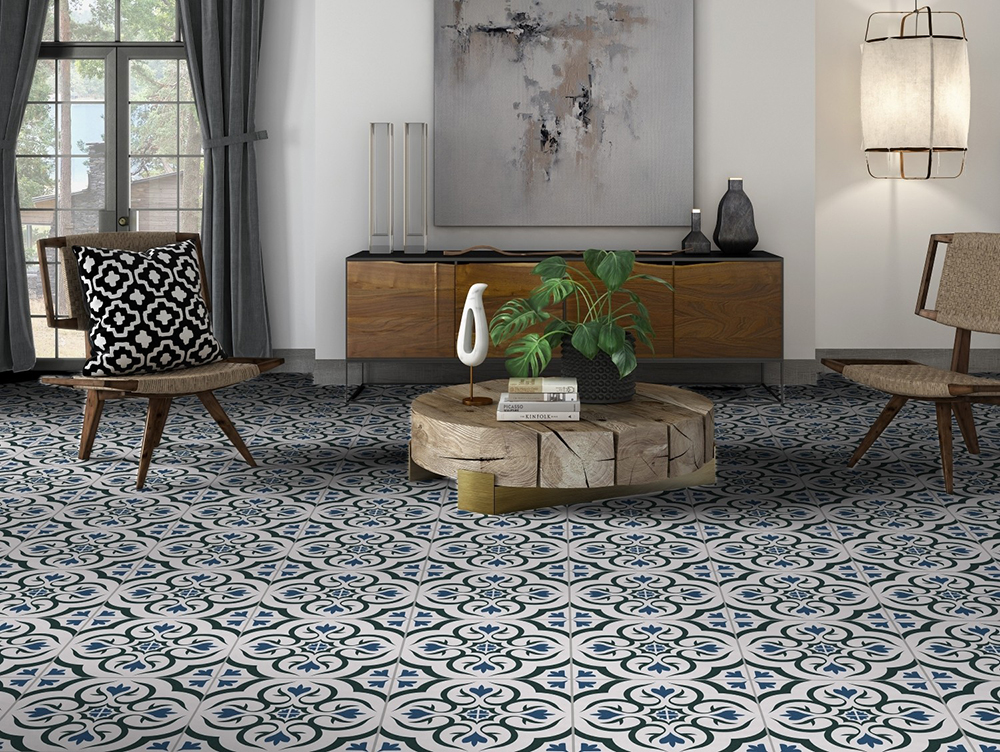 Harrogate Pattern Porcelain Floor Tile from Tile Mountain