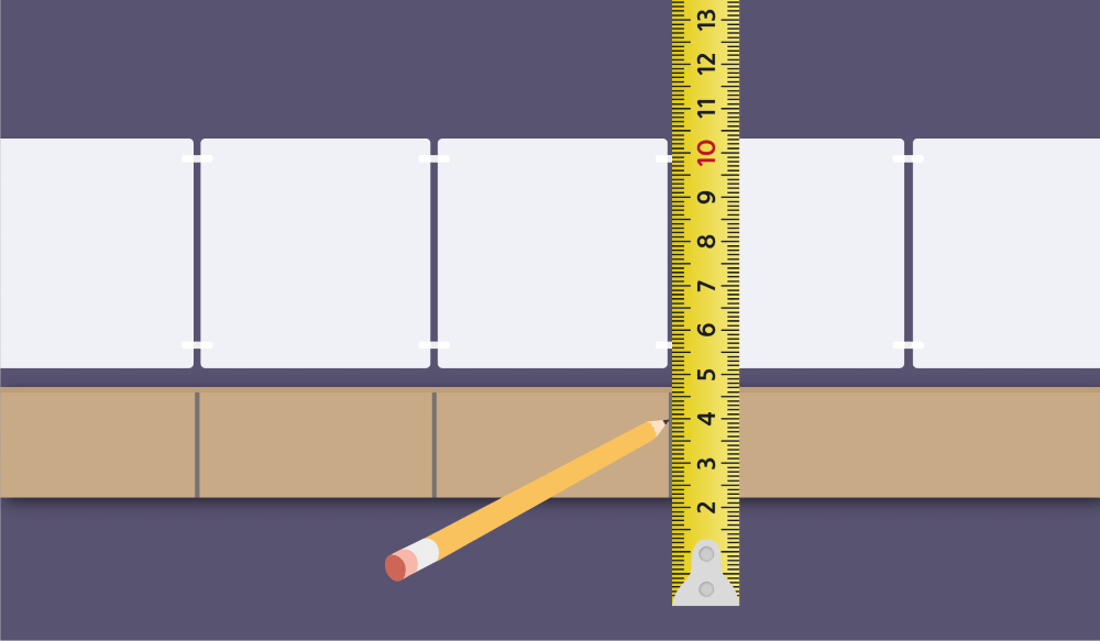 Gauge Rod and Measuring for Wall Tiles