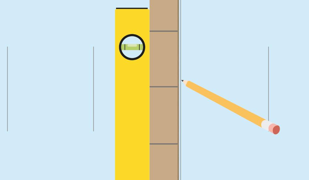 Gauge Rod & Spirit Level for Wall Tiling