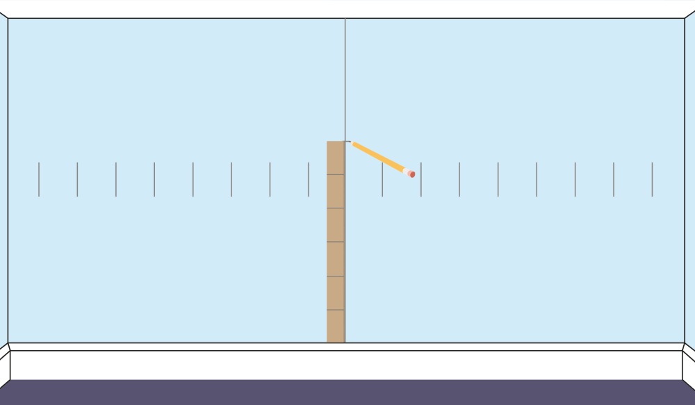 Alining Gauge Rod for Creating Horizontal Rows When Wall Tiling