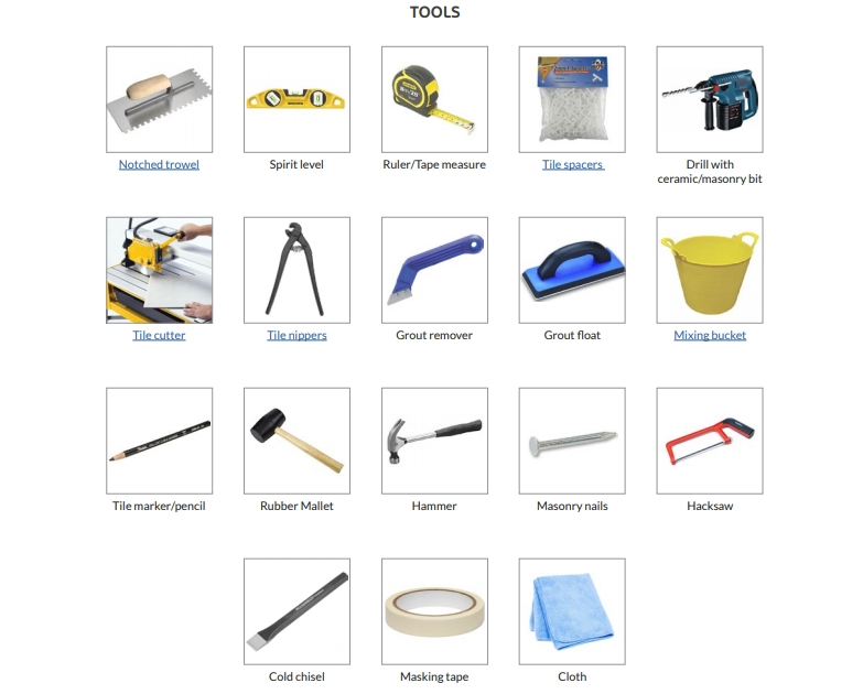 Tools Required for Wall Tiling