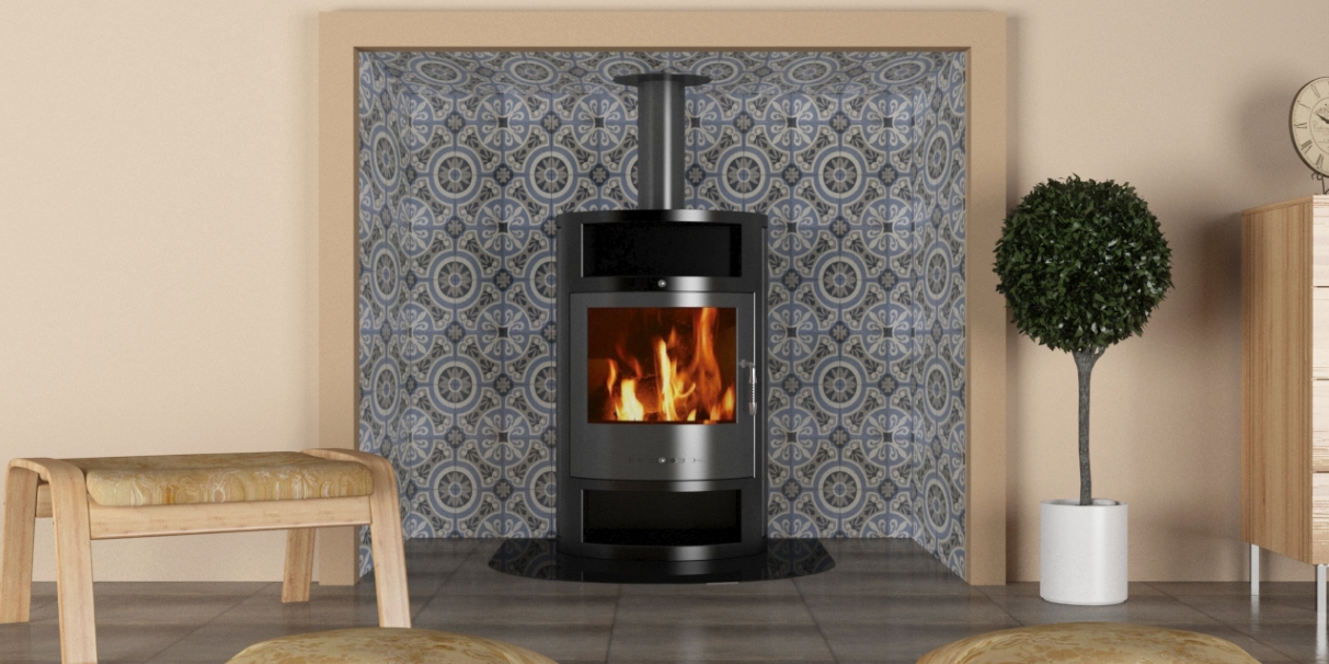 Freezing February Tiles To Use With Fireplaces Woodburners