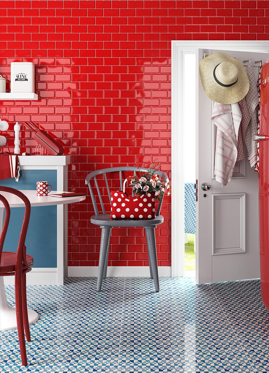 Mini Metro Red Wall Tiles | Tile Mountain