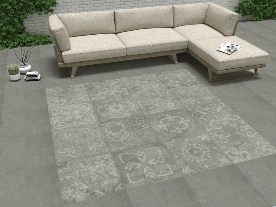 Concretia Grey Outdoor Tiles from Tile Mountain