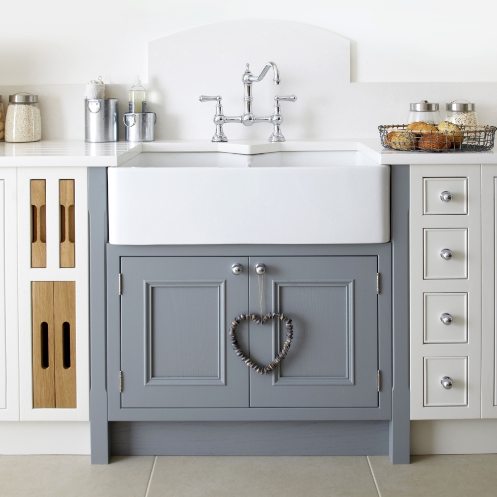 Salcombe Cabinetry in Painted Chalk and Painted Lead | Burbidge